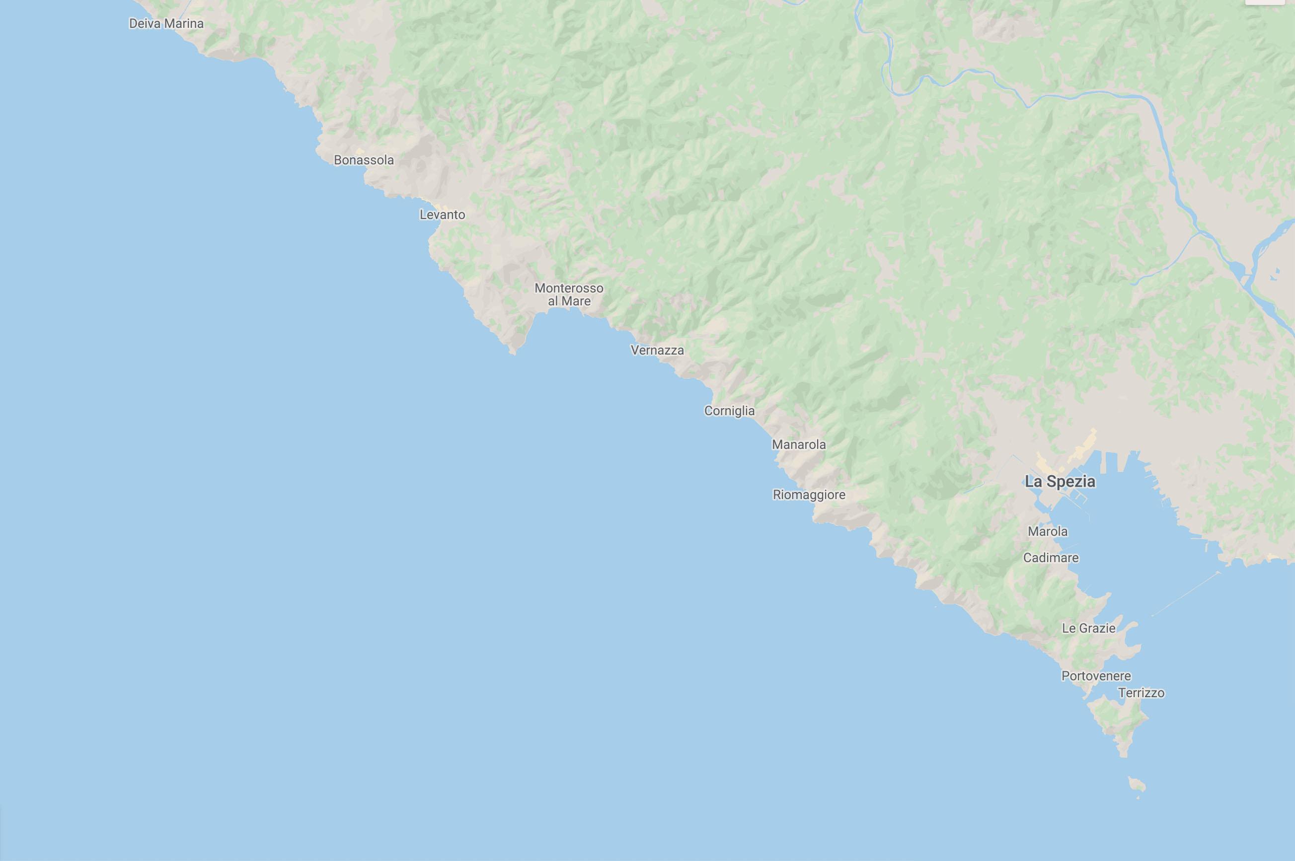 Cesare Charter Portofino - Dettaglio Tour Cinque Terre